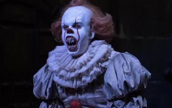 IT: Capitolo 2, le nuove foto di Pennywise dal set del film