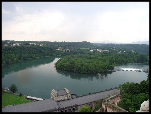 Il fiume Adda visto dal castello