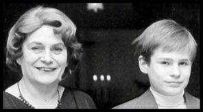 Il giovane Meiwes con la madre