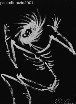 Danza (copertina per il dipinto ucciso, Granata Press, 1993)