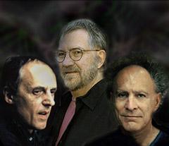 Dario Argento, Tobe Hooper e Monte Hellman in un nostro fotomontaggio.
