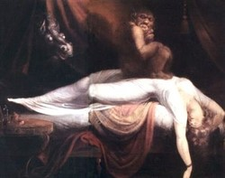 "Henri Fuseli, ""The Nightmare"" (1781). Olio su tela. Conservato all'Institute of Arts, Detroit"