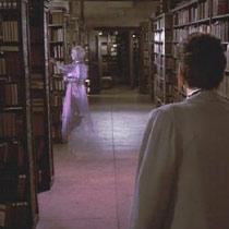 Uno spettro dal film Ghostbusters.
