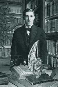 H. P. Lovecraft in una illustrazione di Andrea Bonazzi
