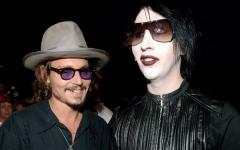 Johnny Depp e Marylin Manson live la notte di Halloween